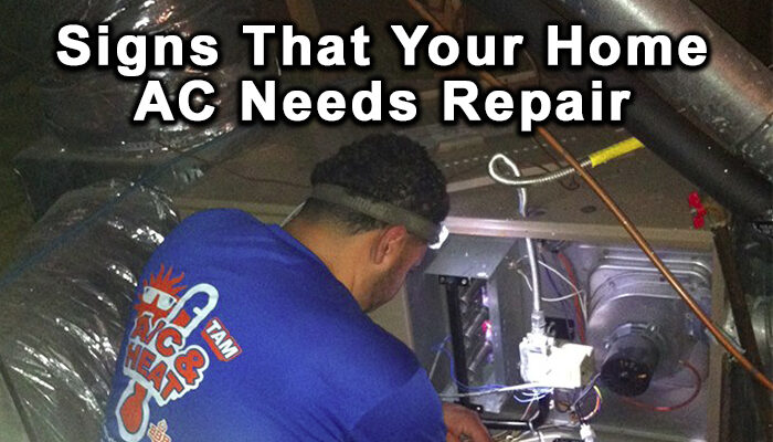 ac needs repair signs